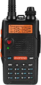 BaoFeng UV-5R EX 5W Dual Band Two Way Radio Long Range (Upgraded Version of Uv-5R) Rechargeable Walkie Talkies Squelch Ham Radio with Earpiece + Desktop Charger
