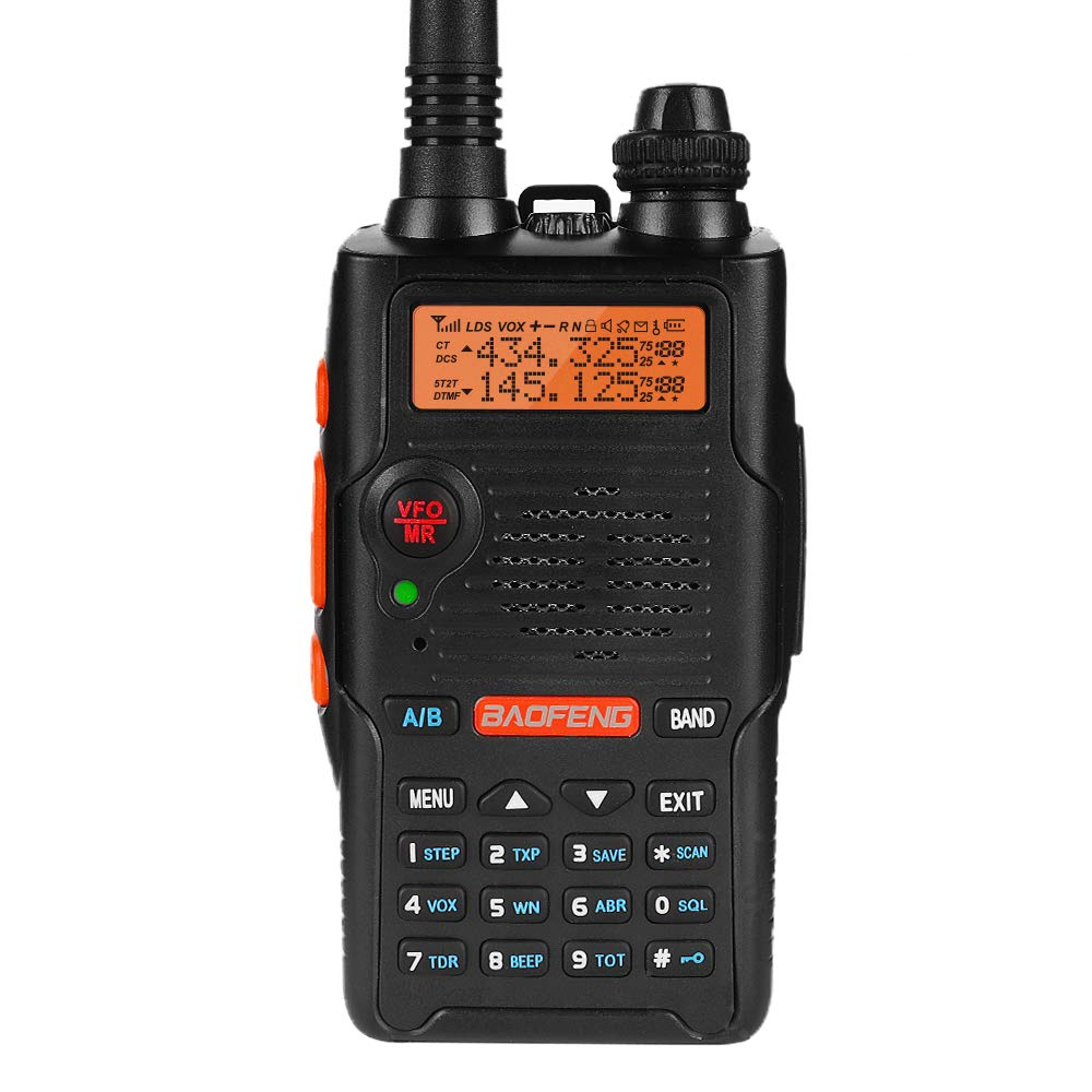 Baofeng UV-5R EX 5W Dual Band Two Way Radio Walkie Talkies Rechargeable Long Range Ham Radio with Earpiece + Desktop Charger