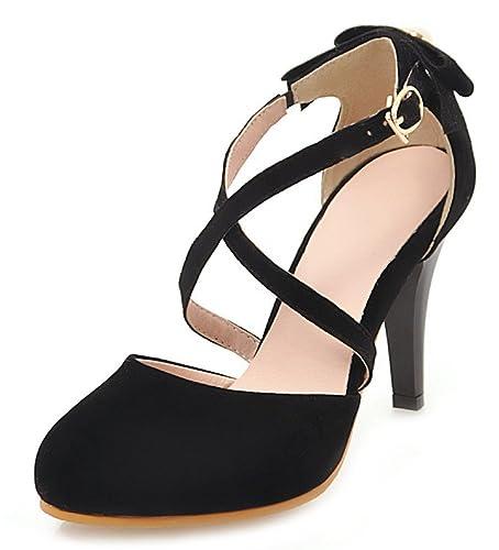 ec0bacd1 Aisun Women's Fashion Faux Suede Round Toe Court Shoes: Amazon.co.uk ...