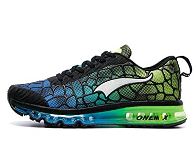 136b0491070 ONEMIX Air Max Chaussures Jogging Course Gym Fitness Sport Lacet Sneakers  Style Running Tennis Respirante Homme