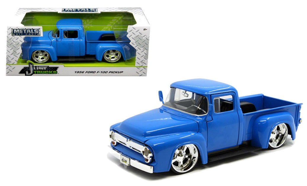 Jada 99044 1956 Ford F 100 Pickup Truck Blue Just Trucks 1 24 Diecast Model Car
