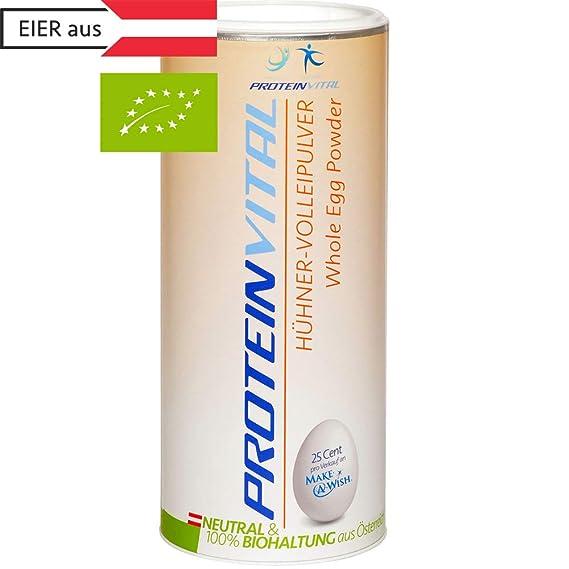 PROTEINVITAL Huevo en polvo - 500g CRÍA BIOLÓGICA - 100% natural de Austria - Neutro