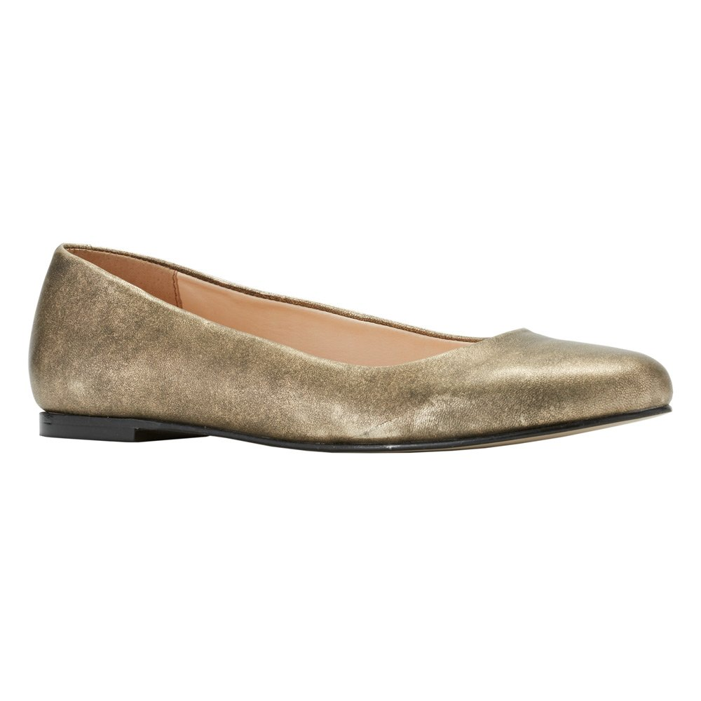 Walking Cradles Women's Bronwyn Flat B01IBEIYQ8 5.5 B(M) US|Old Gold Antique Metallic