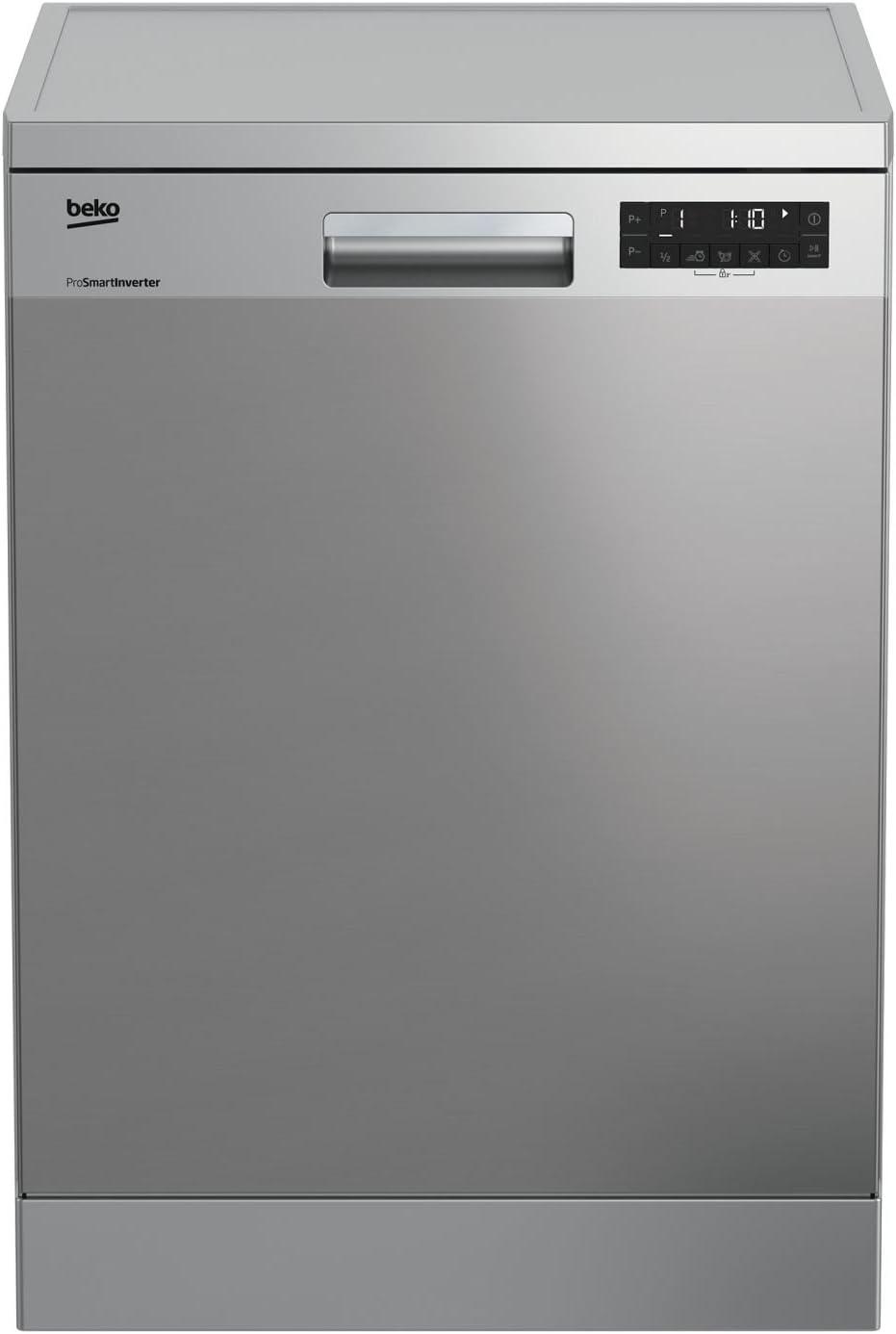 Beko DFN28422X Independiente 14cubiertos A++ lavavajilla - Lavavajillas (Independiente, Acero inoxidable, Tamaño completo (60 cm), Acero inoxidable, Botones, LCD)