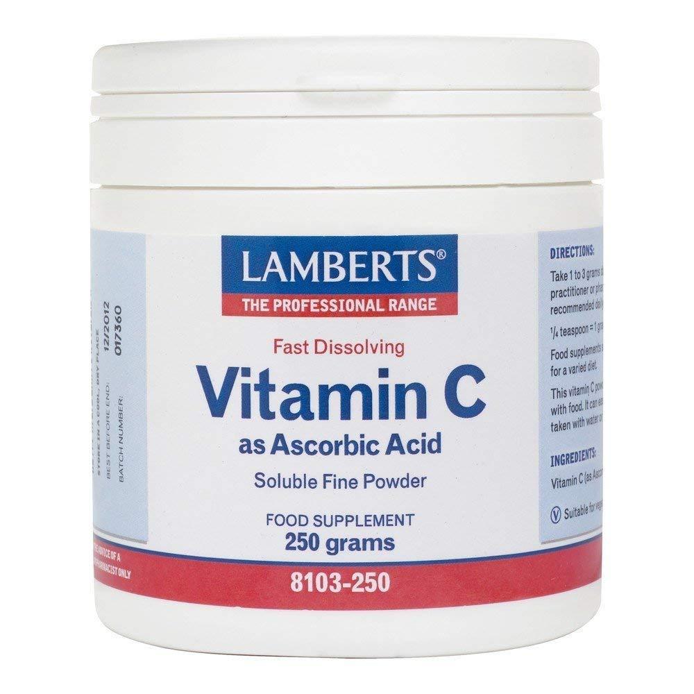 Lamberts Vitamin C Ascorbic Acid - 250g Powder