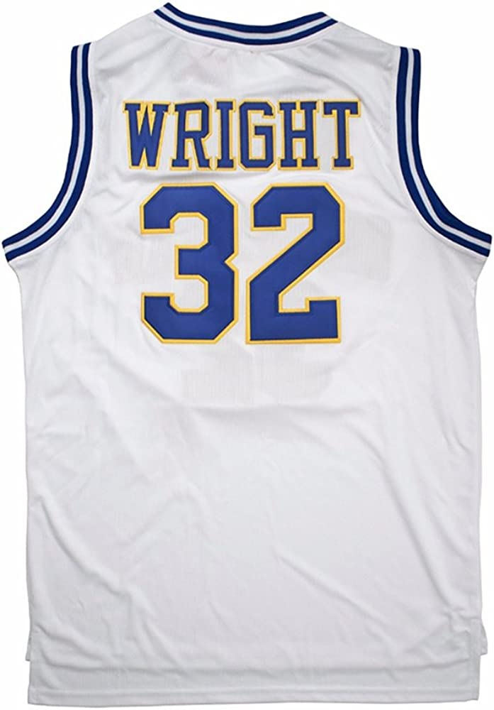 AIFFEE Mens Jersey Crenshaw Jersey Wright #32 White Color Size XS-XXXL