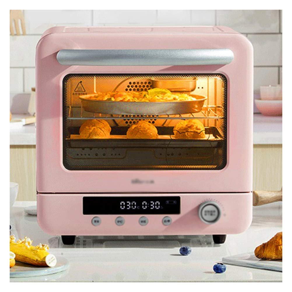 HATHOR-23 Ovens- Electric Oven With Double Hotplate Able Top Cooker With 5 Preset Functions,Pink Mini Oven With Grill 1300W 20L