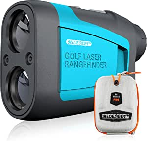 MiLESEEY Golf Rangefinder Laser 660 Yard 6X Magnification with Slope/Pin/Range/Scanning Model Wrist Strap Carrying Bag for Golf Training