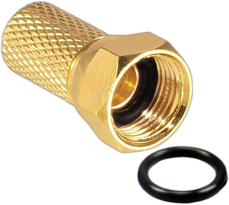 color negro Stahl-Kupfer 50m Negro Manax 135 dB, cobre, PRO, 5 capas Cable coaxial de antena para DVB-S // S2 DVB-C y DVB-T BK