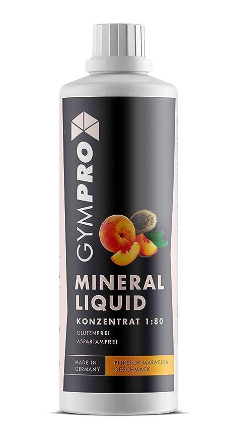 GymPro - Botella de 1.000ml de concentrado de sirope para elaborar bebidas minerales bajas