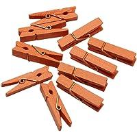 Dosige 50 Stück Holz-Wäscheklammern/Mini Holz Wäscheklammer/Mini Holzklammern/Deko Klammern Größe 3.5 (Länge), 0.7 cm(Breite).
