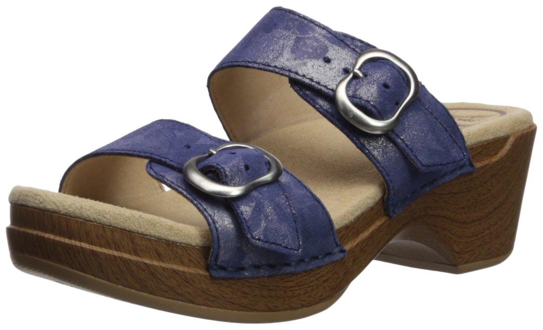 Dansko Women's Sophie Slide Sandal B072WGHSZR 36 M EU (5.5-6 US)|Blue Shimmer Metallic