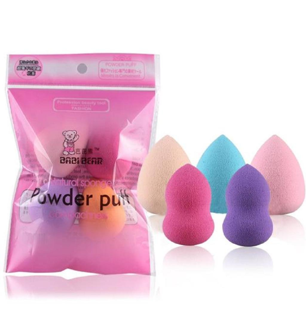 Franterd 5PCS Pro Beauty Flawless Makeup Foundation Puff Multi Shape Sponges Blender