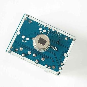 Meisijia HC-SR501 Pequeño módulo de sensor PIR Detección de movimiento de cuerpo infrarrojo piroeléctrico