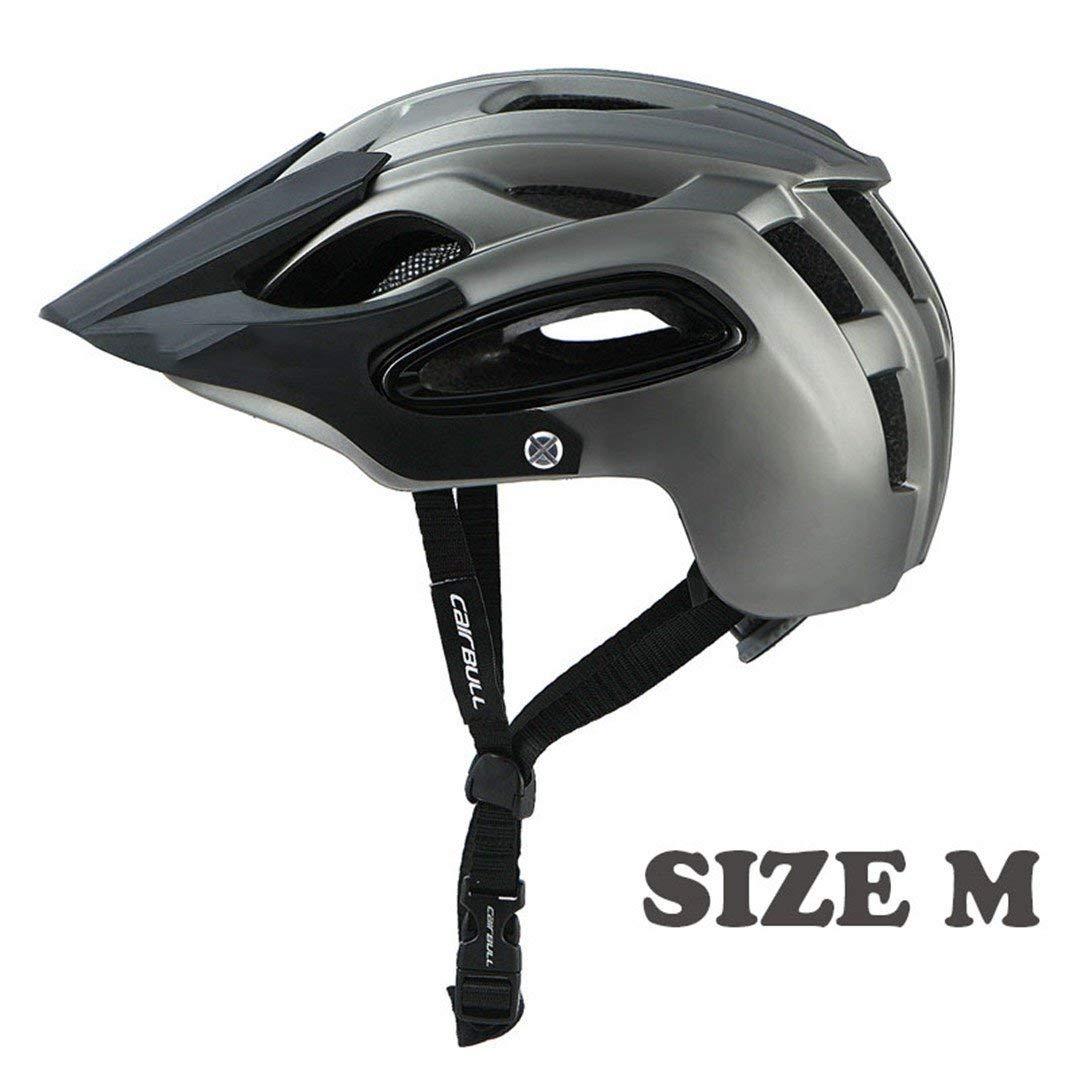 サイクリング自転車用ヘルメット 自転車用ヘルメットAll-Terrai Mtbサイクリングバイクスポーツ用安全オフロードスーパーマウンテン スポーツ用保護ヘルメット (色 : Black gray) B07MFT8F71