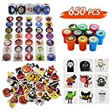 Lulu Home Halloween Assorted Craft Kit, Stickers & Stampers Set for Halloween Decoration, Trick-Or-Treat Gift for Kids, 650PCS