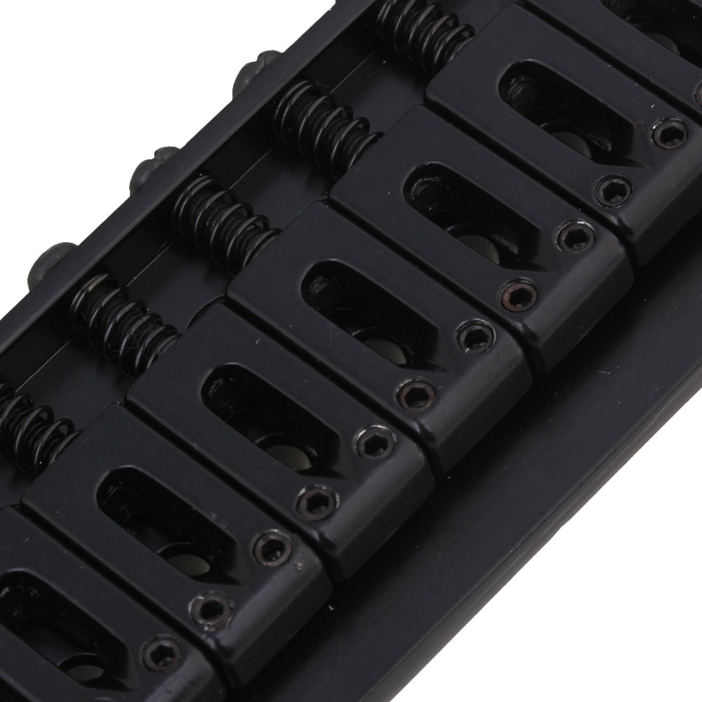d79e969fe764 ... Yibuy 83x40x12mm Black 7 String Fixed Electric Guitar Bridge   Wrench    Screws etfshop ...