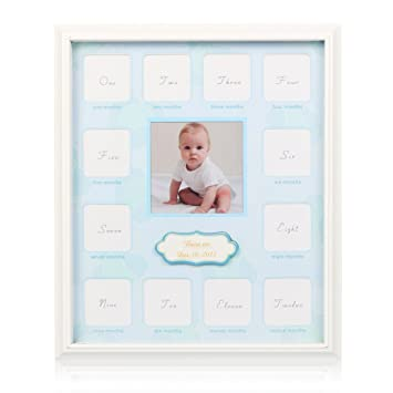 Amazon.com : Collage Photo Frame for Baby First Year Keepsake - 12 ...