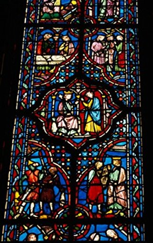 David Stained Glass Print (France Paris Sainte Chapelle Stained glass representing detail from The Life of King David Poster Print (24 x 36))