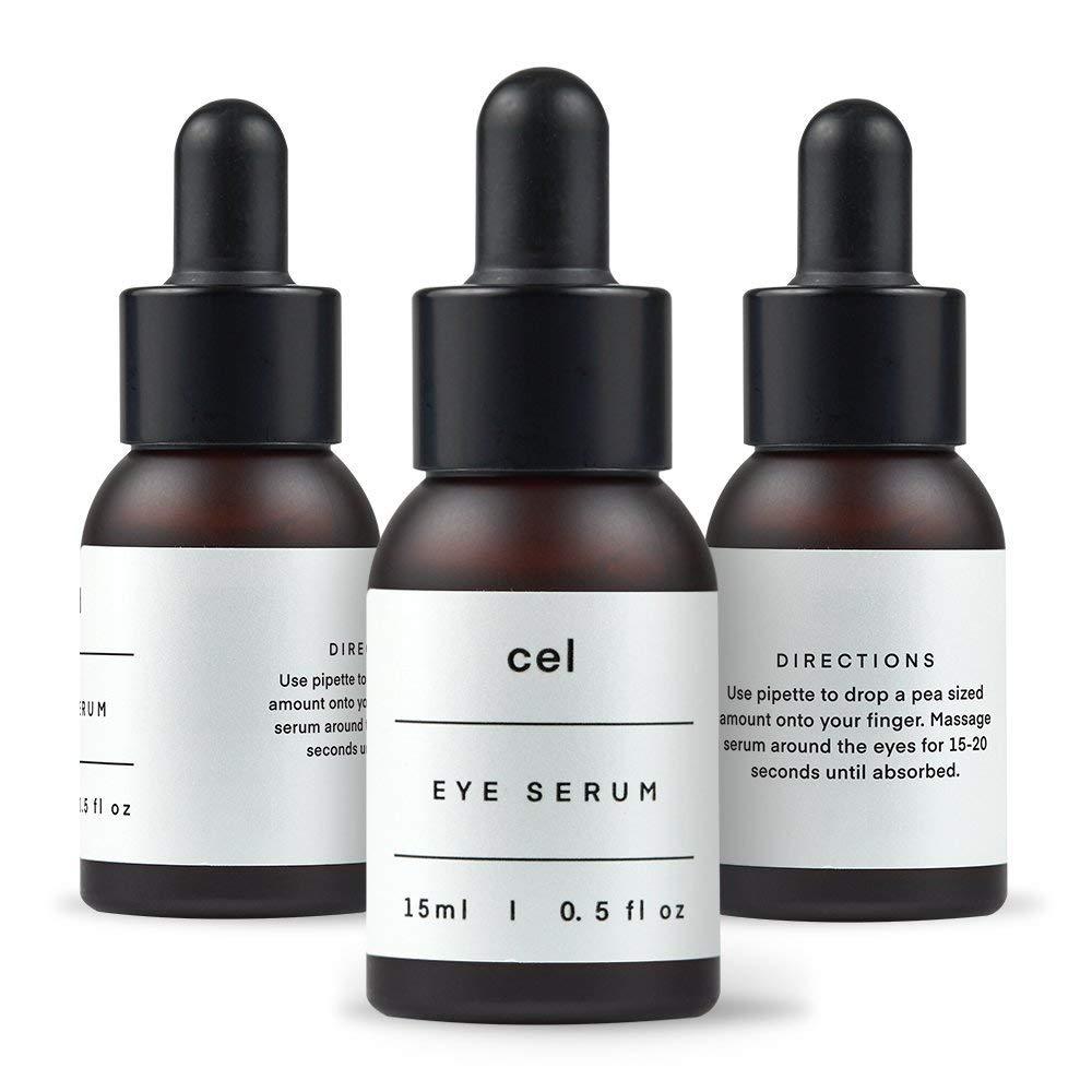 CEL MD Stem Cell Korean Eye Serum | Instant Dark Circles Under Eye Treatment Eyes Puffiness Bags Remover | Undereye Tightening Anti Bag Aging Wrinkle Hyaluronic Acid by cel