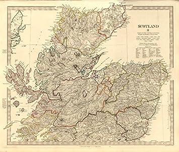 Amazon.com: SCOTLAND NORTH. Castles kirks railways. Inset ... on
