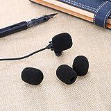 eBoot Lapel Headset Microphone Windscreens, Foam Microphone Covers, Mini Size, 15 Pack