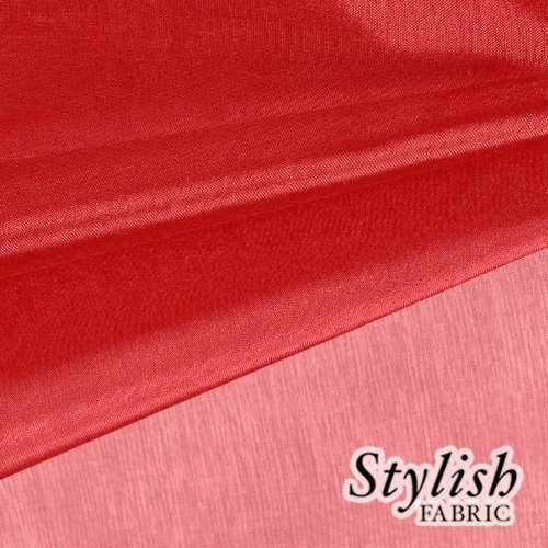 59 Regal Red Organza Fabric by the Bolt - 10 Yards by Stylishfabric   B00EV6FLMQ