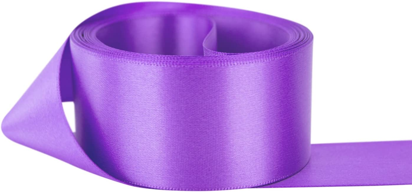 """5 Yards Ombre Spring Pastel Pink Purple Sheer Wired Ribbon 1 3//8/""""W"""