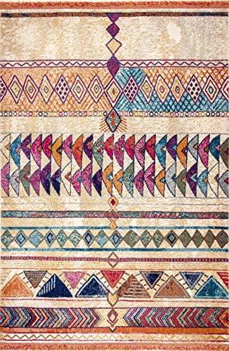 nuLOOM Aztec Atzi Area Rug, 8 10 x 12 , Orange