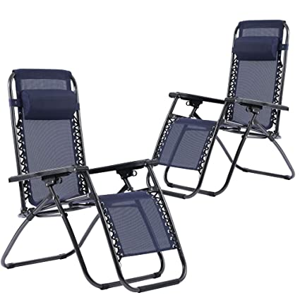 Strange Zero Gravity Recliner Chair Patio Chairs Lounge Chair Set Of 2 Adjustable For Pool Side Outdoor Yard Beach Creativecarmelina Interior Chair Design Creativecarmelinacom