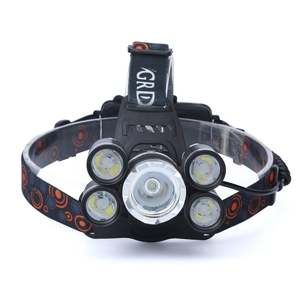 Luversco 35000LM 5x XM-L T6 LED Headlamp Headlight Flashlight Head Light Lamp 18650