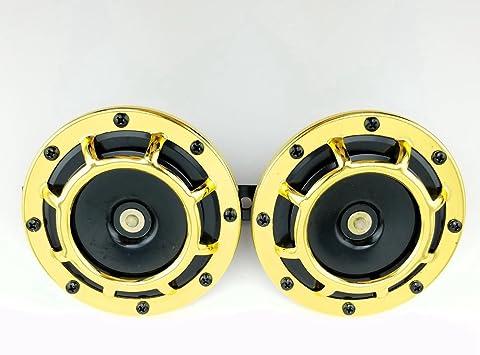 Black Super Loud Compact Electric Blast Tone Horn Universal 12V Car Pickup Auto