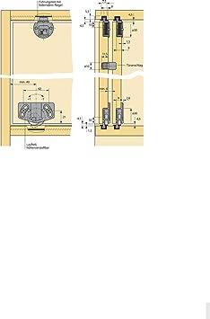 Lot de 2 guide Loquet Verrou pour armoire Guide supplémentaire pour porte coulissante Rail supérieur – Modèle Slide Line 55 – en plastique Marron | Meubles Poignées de GedoTec®: Amazon.es: Bricolaje y herramientas