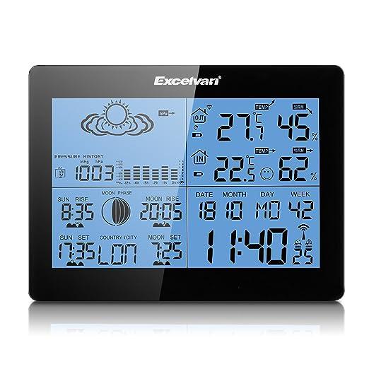 144 opinioni per Excelvan Wireless Colore Stazione Meteo con le Previsioni, Temperatura, Umidità
