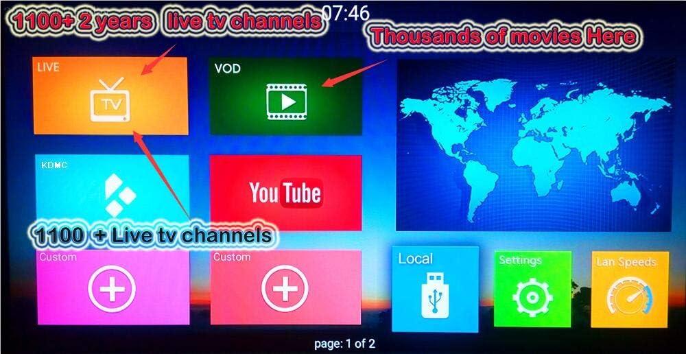 Vshare® Mando a distancia de repuesto para Qnet árabe IPTV marstv árabe IPTV suscripción con servidor: Amazon.es: Electrónica