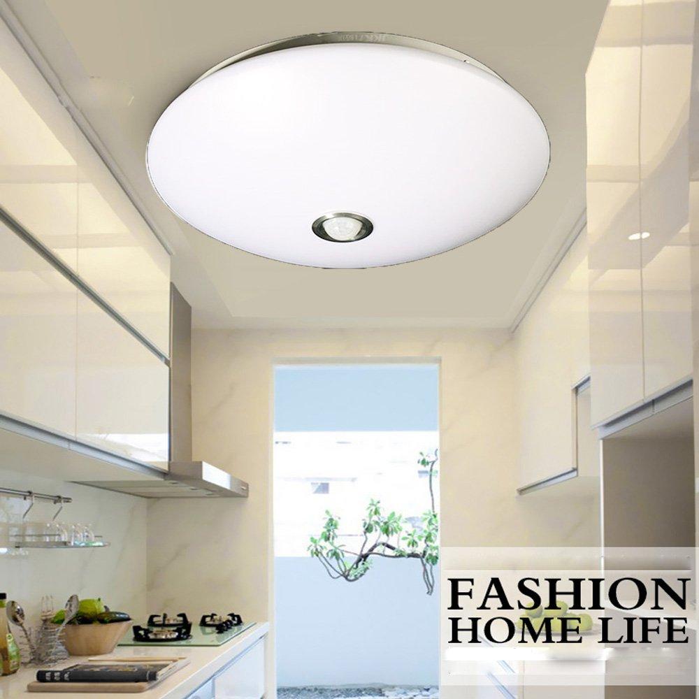 ZHMA 12W LED Plafón De Sensores de movimiento, LED Techo Lámpara, 960 Lumens,Luz natural 4200K, Iiluminación Interior, De Techo Pasillo Salón Cocina ...