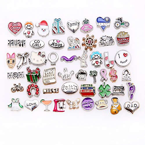 50 Pcs Mixed Random Floating Charms for Glass Living Memory Lockets Origami Owl Lockets DIY Wholesale Gold and Silve By Cinter.C Model 2]()