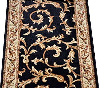 Amazon Com Dean Black Scrollworks Custom Length Carpet