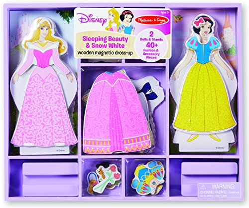Melissa & Doug Disney Sleeping Beauty and Snow White Magnetic Dress-Up Wooden Doll Pretend Play Set (40+ pcs) for $<!--$14.99-->