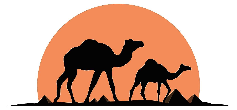 Wandtattoo Afrika Kamele Ägypten Wüste Wandsticker Landschaft