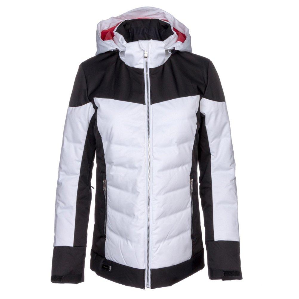 Descente Hayden Womens Insulatedスキージャケット Super 白い/黒/Electric 赤