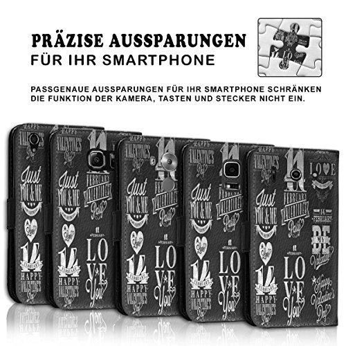 Wallet Book Style Flip Handy Tasche Case Schutz Hülle Schale Motiv Etui für Apple iPhone 4 / 4S - Design Flip MVD308
