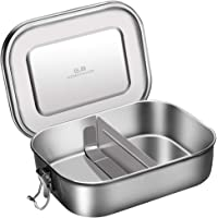 G.a HOMEFAVOR Stainless Steel Lunch Box Metal Bento Box 1400ml Food Container with Compartments
