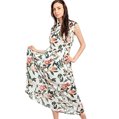 a3d2ee78ef7 Image Unavailable. Image not available for. Color  Women s Bohemian  Sleeveless Floral Print Maxi Dress Tank Top Casual Long Maxi Summer Dresses  Beach ...