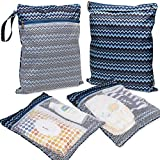 Bundle Monster 4pc Multi Purpose Double Compartment Storage Organizer Bag with Zipper