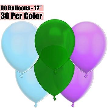 Amazon.com: Globos de fiesta de 12 pulgadas, 90 unidades ...