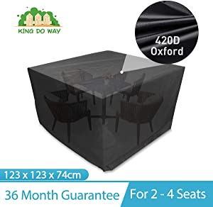 king do way Outdoor Patio Furniture Covers Square Patio Table Chair Cover All Weather Protection Outdoor Furniture Cover