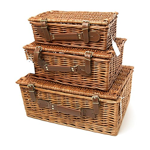 Your Gift Basket - Brown Willow Hamper Basket Available in Small, Medium and Large (340 mm length x 210 mm wide x 110 mm high)