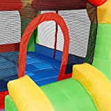 Costzon Inflatable Mighty Bounce House Castle Jumper Moonwalk Bouncer Without Blower