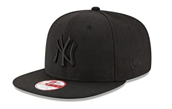 New Era Unisex Cap MLB 9fifty NY Yankees, Schwarz/Schwarz, S/M